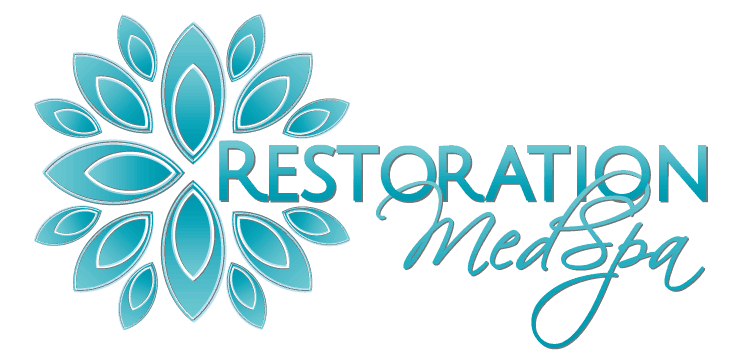 blue logo from restoration med spa, featured on the medical spa ethics podcast